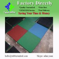 Buy cheap 500*500mm non slip safety rubber tile from wholesalers