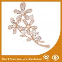 Buy cheap Handmade Safety Pin Rhinestone Brooches For A Wedding Flower Brooches from wholesalers