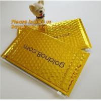Buy cheap Slider padded grip seal Golden bags, air bubble bag with slider zipper,design custom anti static plastic black ziplock b from wholesalers