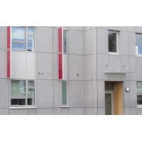 Cellulose Exterior Fiber Cement Board , Light Grey Cement Sheet Wall Panels