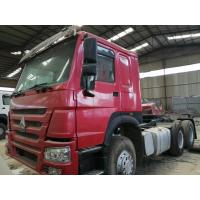 Buy cheap 2015 made in china tractor head 6*4 10 Tires Sinotruck Howo tipper  dump truck tractor truck flatbed semi-trailer from wholesalers