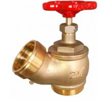 Buy cheap Red Hand Wheel Single Headed Hydrant Valve , Brass Fire Fighting Landing Valve product