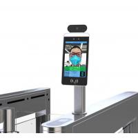 Buy cheap AI face camera recognition temperature detect door access control terminal 8 inch Android panel from wholesalers