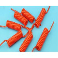Buy cheap Bright Color Electrical Curly Extension Cord Coiled Power Cable With Copper Conductor product