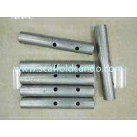 Buy cheap Hot dip galvanized 38*230mm 40*250mm scaffolding spigot, joint pin, Bone joint for Ringlock scaffolding system for sale from wholesalers