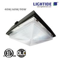 Buy cheap DLC Premium Fuel Pump Canopy LED Luminaires/LED Gas Station Light, 90W from wholesalers