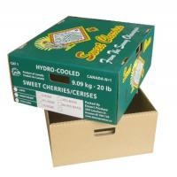 Buy cheap Fresh Food Cardboard Vegetable Boxes , Fruit Shipping Boxes Custom Logo from wholesalers