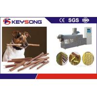 Buy cheap PLC Control Pet Food Making Machine / Treats Extruder For Dog Cat Chewing from wholesalers