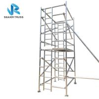 Buy cheap 8m Height Folding Scaffold Ladder , Lightweight Aluminum Scaffold Platform from wholesalers