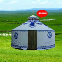 Outdoor Steel Frame White Mongolian Tent House With Wood Door And Floor