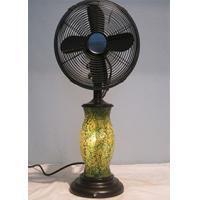 110V 3 Speed Vintage Oscillating Table Fan , Classic Design Base Decorative Desk Fan