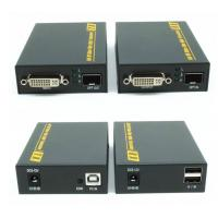 Buy cheap 2km 4K DVI Fiber Extender Support RS232 Video Audio Transmitter For Screen Splicing Display product