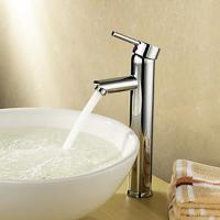Buy cheap Single Handle Deck Mounted Brass Bathroom Tap Chrome Plated For Above Counter Basin from wholesalers