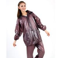 Buy cheap Cute Bordeaux Red Polyurethane Rain Coat portable For Girls from wholesalers