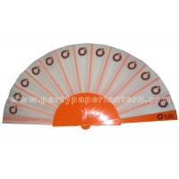 Buy cheap Logo Design Printed Fabric Hand Fan For Weddings , Birthday Celebrations product