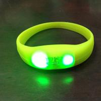 Buy cheap LED Pulse Remote Control Radio Controlled Silicone Wristband Sound Motion Activated Light Bracelet from wholesalers