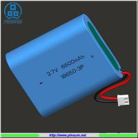 Buy cheap Lithium battery 18650 battery pack 3.7V 6600mAh for industrial use from wholesalers