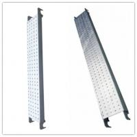 Buy cheap Galvanized Pregalvanized steel scaffolding boards with hook , thickness 1.8mm from wholesalers