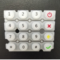 Buy cheap Transparent Silicone Rubber Keyboard Keys Laser Etching Printing from wholesalers