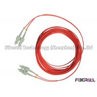 Buy cheap Red Jacket Fibre Optic Patch Leads , Multimode Fiber Optic Cable With SC MM Connector from wholesalers