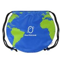 Buy cheap Globe Design Promotional Drawstring Backpack - 17w x 14.5h from wholesalers