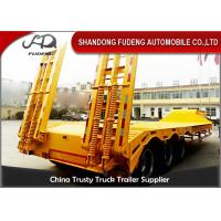 Buy cheap Lowbed Trailers Lowboy Semi Trailer With Ramp Tri-Axles 60 Tons for sale from wholesalers