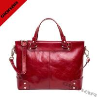 Buy cheap Durable High End Burgundy Women S Leather Handbags With Nylon Fabric Lining from wholesalers
