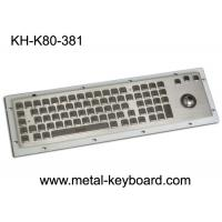 Buy cheap 80 Keys IP65 Rated Metal Industrial Keyboard With Trackball Mouse And Numeric Keypad from wholesalers