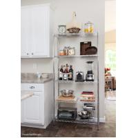 China 5 Tier Silver Storage Rack Shelving Kitchen Office Shelf Units 24W X 18D X 60H on sale