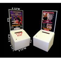 Buy cheap save shipping cost customized counter cardboard ballot boxes with header optional from wholesalers