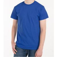 Buy cheap Blank Plain Round Neck Mens Soft Cotton T Shirts With Custom Logo from wholesalers