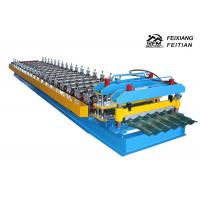 Buy cheap 1100 Glazed Tile Roll Forming Machine Stand Column Style For Building Material from wholesalers