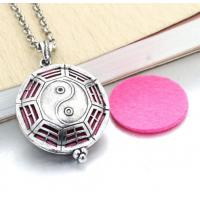 Buy cheap essential oil diffuser locket jewelry necklace perfume aromatherapy necklace jewellery oil pendant from wholesalers