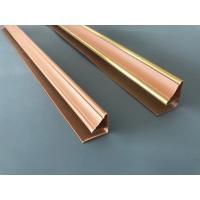 Buy cheap Durable Wood Colored Pvc Corner Profile , Plastic Extrusion Profiles 130 G/M from wholesalers