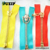 Buy cheap Hot Sale One-Way Separating Gun Zipper With Special Skull Puller from wholesalers