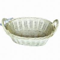 Buy cheap Natural Willow Fruit Basket, Used for Packing Fruits and Cookies from wholesalers