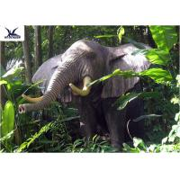 Buy cheap Life Size Animatronic elephant garden ornaments Zoo Park Decorative Statues product