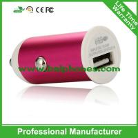 Buy cheap 5V 1A Aluminum single usb car charger for iphone samsung from wholesalers