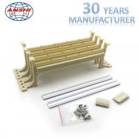 Buy cheap PC Meterial 100 Pairs 110 Terminal Block With Leg Cream White Color from wholesalers