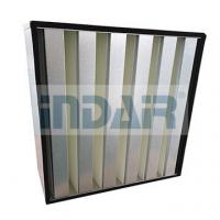 Buy cheap Large Air Flow V Bank HEPA Filter H13 Galvanized Steel Frame For Clean Room from wholesalers