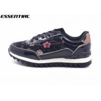 Buy cheap Embroidery Flowers Womens Fashion Sneakers / Slip On Running Shoes Flat Heel from wholesalers