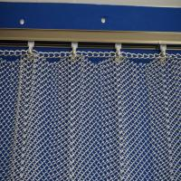 Buy cheap Cascade coil type metal fabric drapery curtain for hotel lobby metallic shower curtain/Metal Coil Drapery/expanded stain from wholesalers