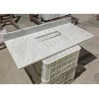 Buy cheap White Marble Stone Countertops , Bianco Carrera Marble Countertop Wear Resistance from wholesalers