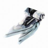 Buy cheap Popular Square Scarf, Made of 100% Silk/Georgette, Available in Various Colors and Styles from wholesalers