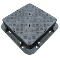 China EN124 D400 Cast Iron Manhole Cover Double Sealed Triangular Ductile Iron Manhole Cover And Frame on sale