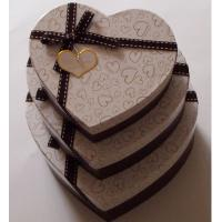 Buy cheap Heart shaped Decorative Luxury Recycled Gift Paper Box , Cream Paper Box For Chocolate from wholesalers