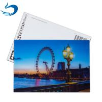 Buy cheap Scenery 3D Lenticular Postcard / Promotional Gift Cards Size 11*16cm from wholesalers
