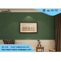 Buy cheap Durable Non woven Wallpaper Removable Material with Dark Green Color product
