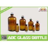Buy cheap 20/410 Neck 120ml Amber Boston Round Bottle With Phenolic Cap product