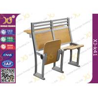 Buy cheap Aluminium Frame Floor Mounded Classroom Desk And Chair Set For Students With Book Net from wholesalers
